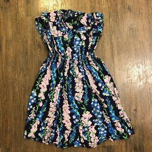 EUC Strapless Ruffled Lilly Pulitzer Dress